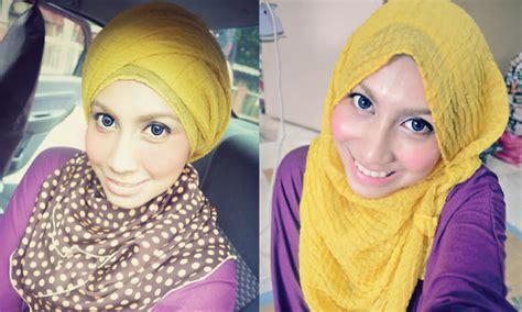 Ghaida Bergo By Uwais Light Beige pink daily hijabi