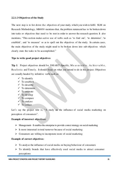 Mba Project Guidelines by Mba Project Guidelines 2016