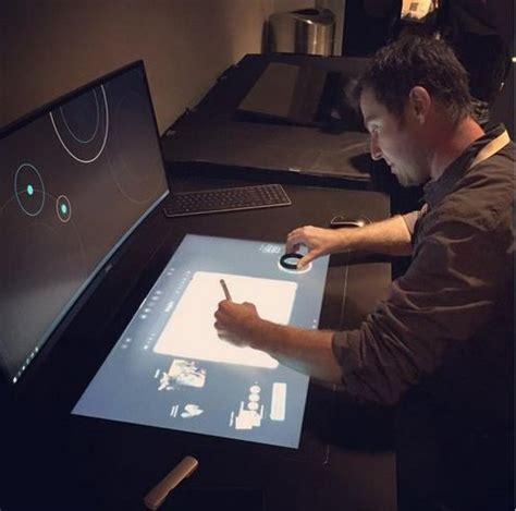 tabletop touchscreen desks dell smart desk