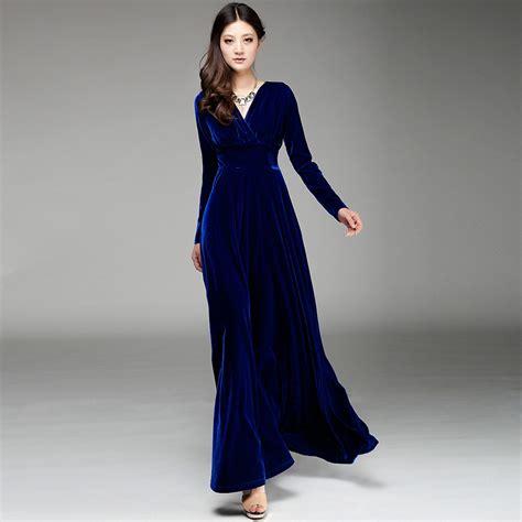 velvet design clothes sexy velvet maxi dresses with side split cuts designers