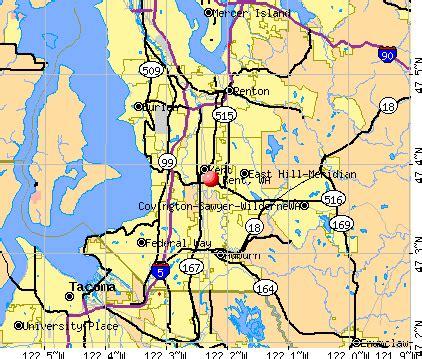 Kent Washington Map by Washington State Map Kent