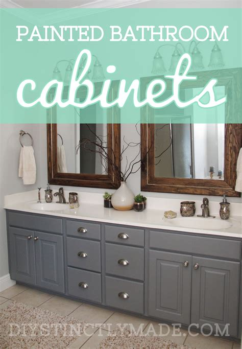 Painting Bathroom Cabinets Color Ideas by Painted Bathroom Cabinets Diystinctly Made