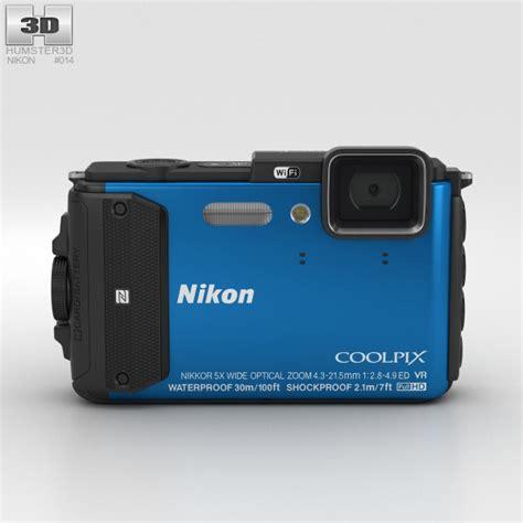 nikon model nikon coolpix aw130 blue 3d model hum3d