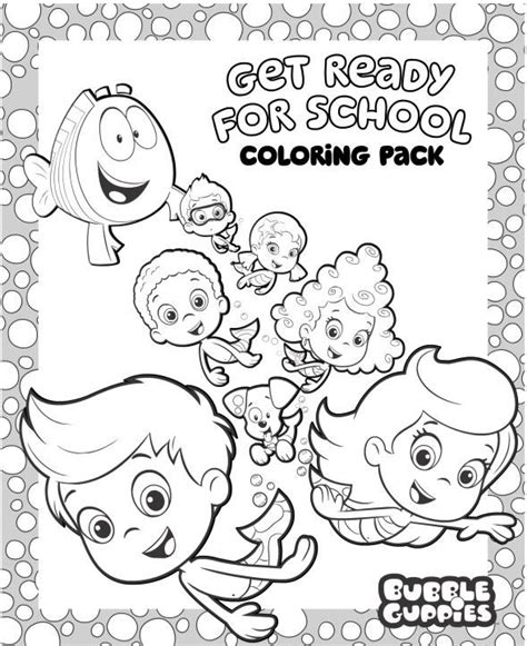bubble guppies coloring pages nick jr 17 best images about teaching taylor on pinterest nick