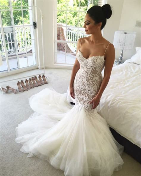 mermaid style wedding dress gorgeous mermaid style lace appliques tulle wedding dress