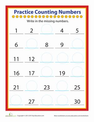 Counting Practice Worksheet by Worksheets Education