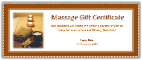 Massage Gift Card Template - search results for free christmas gift certificate template word calendar 2015