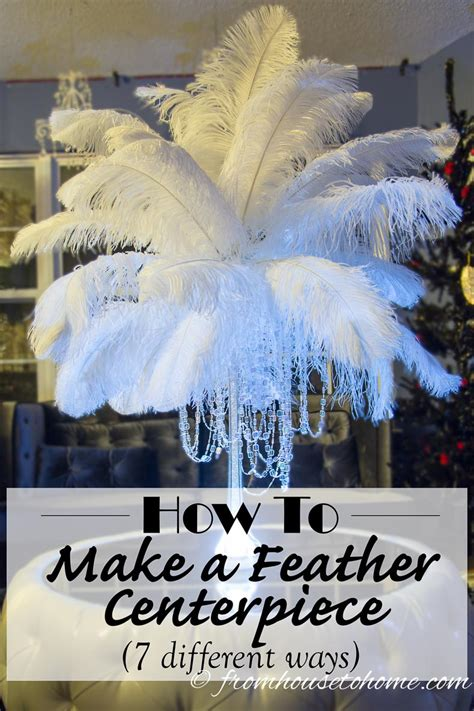 diy how to make ostrich feather centerpieces plus 7 - How To Make Centerpieces