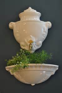 Square White Planter by Vintage French Wall Fountain Lavabo Planter White Porcelain