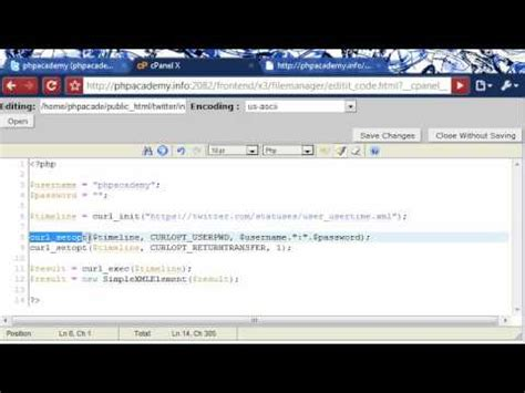 tutorial php curl php tutorials show recent twitter tweets using curl youtube