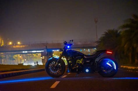 Modified Bikes With Lights by Modified Royal Enfield Lord Shiva S Tandav Form Inspired