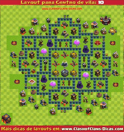 layout coc cv9 layouts de centro de vila 10 para clash of clans clash