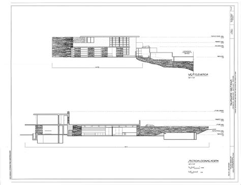 fallingwater house plan falling water house plans and elevations escortsea