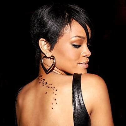rihannas tattoos rihanna neck