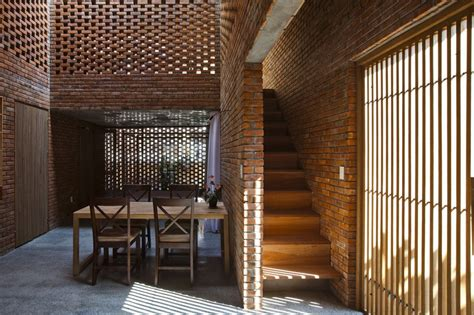 the home interior brick interior of the house in coastal city of vietnam