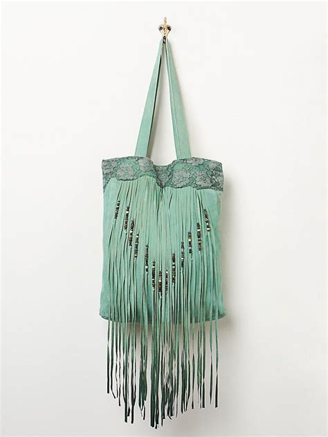5 Beautiful Bags To Drool by Free Turquoise Green Ombre Beaded Tassel Fringe