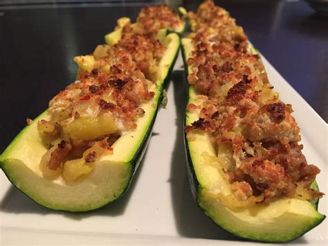 stuffed zucchini boats cooking light stuffed zucchini boats with tomato salad blogs forums