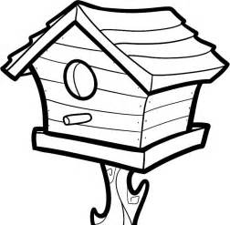 bird house coloring pages free printable coloring pages