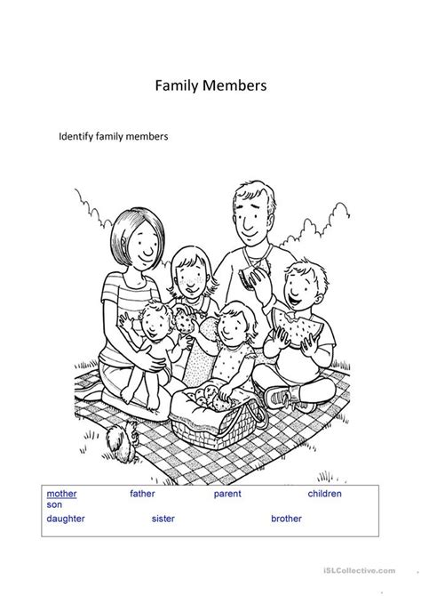family reading coloring page family members worksheet free esl printable worksheets