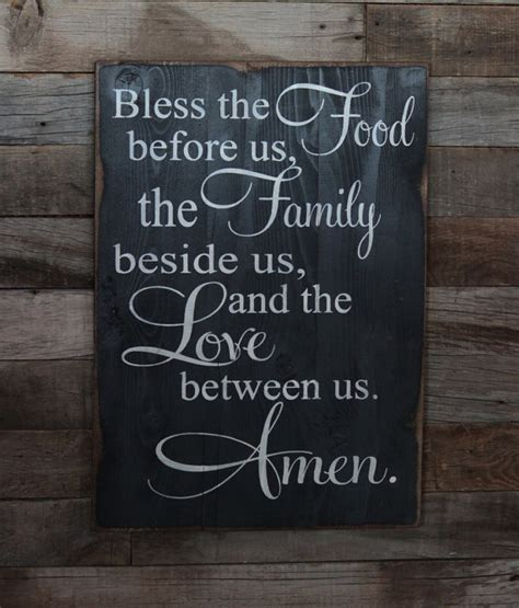 Poster Bless The Food Before Us The Family Beside Us The large wood sign bless the food before us the by dustinshelves