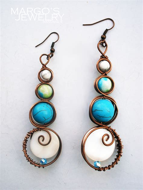 Handcrafted Earrings - copper jewelri moodart