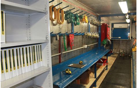 Garage Loft Ideas by Shipping Container Workshop Mobile And Custom Designed