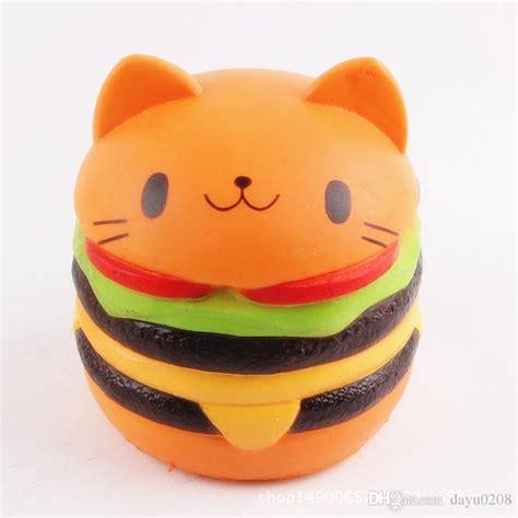 Jumbo Gudetama Hamburger Squishy Rising Orange 2018 rising squishy cat burger soft