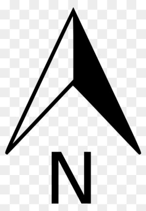 Map North Arrow Transparent Clipart - North Arrow No