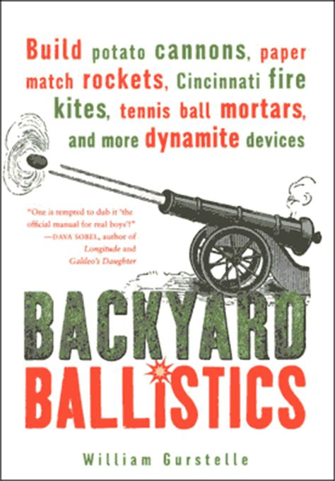 backyard ballistics book notes from the technology underground backyard ballistics
