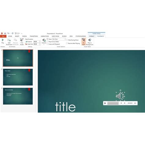 format audio embed embedding audio into powerpoint 2013 presentations