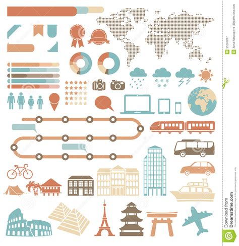 set of vector graphic elements royalty free stock photos tourism infographic stock vector image of design