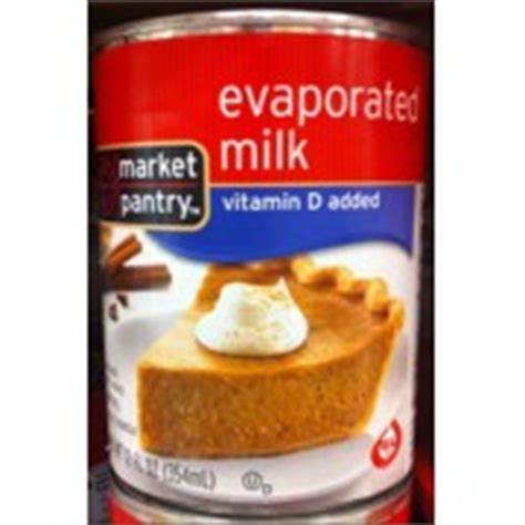 market pantry evaporated milk calories nutrition
