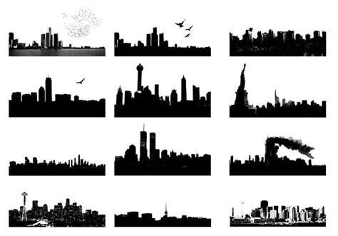photoshop cs5 silhouette tutorial photoshop skyline brushes free photoshop brushes at