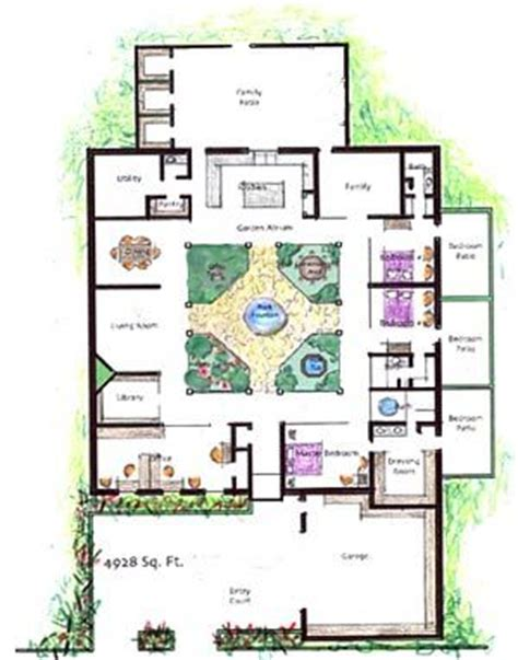 house plans with atrium in center atrium homes the plan and contemporary house plans on