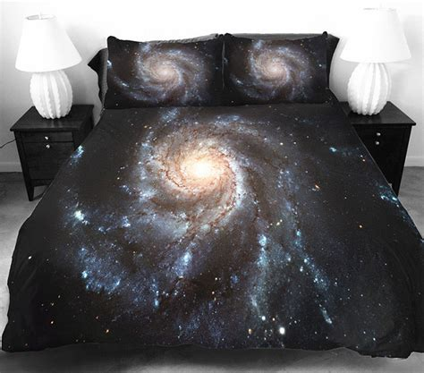 galaxy bed spread these galaxy beddings will let you sleep among the stars