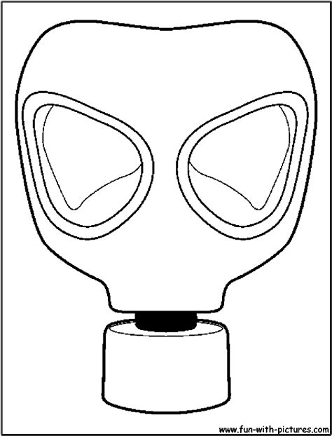 graffiti characters gas mask coloring coloring pages