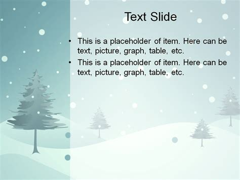 download free blue winter powerpoint template for your