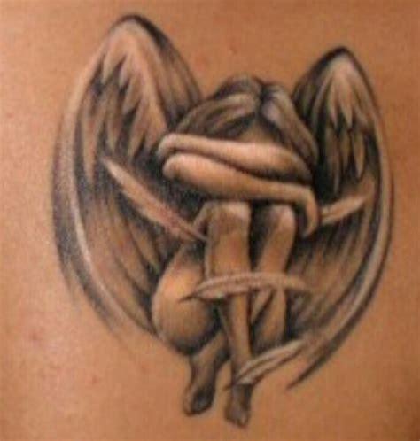 great detail in this sad angel tattoo tattoo pinterest