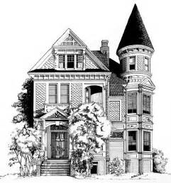 house drawing san francisco victorian drawing by mary palmer