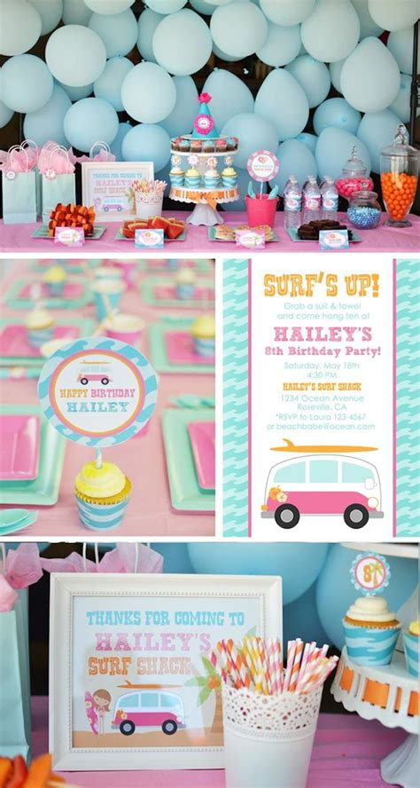 Kara's Party Ideas Surfer Girl Birthday Party Eighth