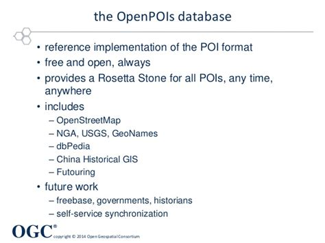 rosetta stone database is out of date geopackage context and poi and a sprinkle of geojson