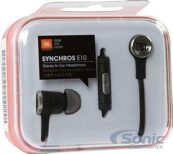 Headset Earphone Jbl E10 jbl synchros e10 in ear headphones black single button remote
