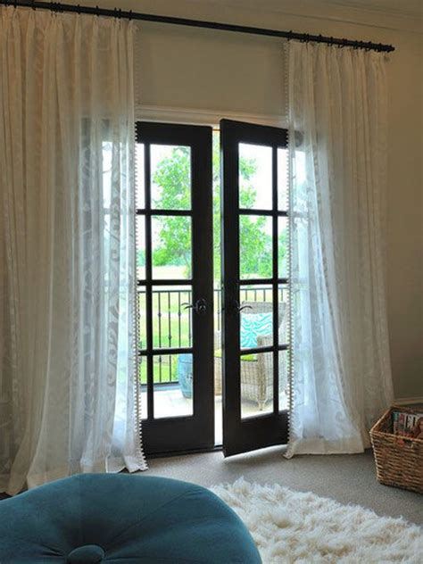 draperies french doors curtain over french door for the home pinterest