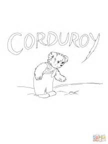 corduroy button coloring free printable coloring pages