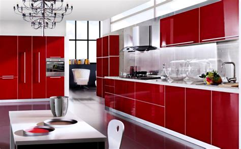 design of kitchen furniture red and white kitchen designs peenmedia com