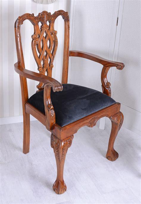 sedie stile antico vintage sedia poltrona chippendale mogano sedia stile