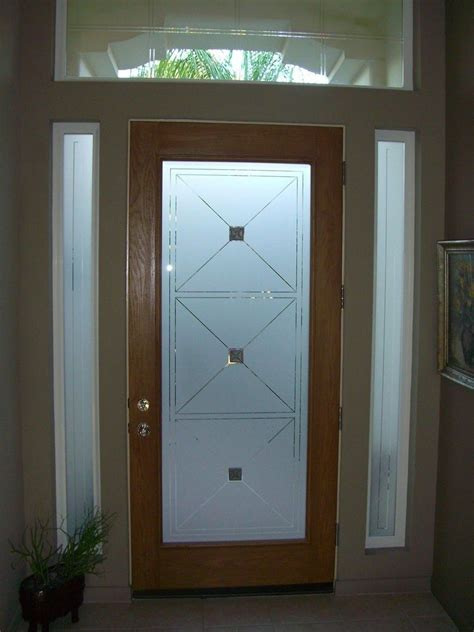 frosted glass door inserts etched glass entry door windows frosted front doors