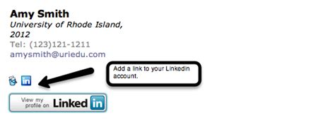 How To Add Mba In Linkedin by Email Signature Exle Student Link Your Linkedin Account