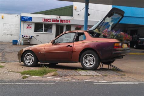 purple porsche 944 random spots porsche 944 flower pot