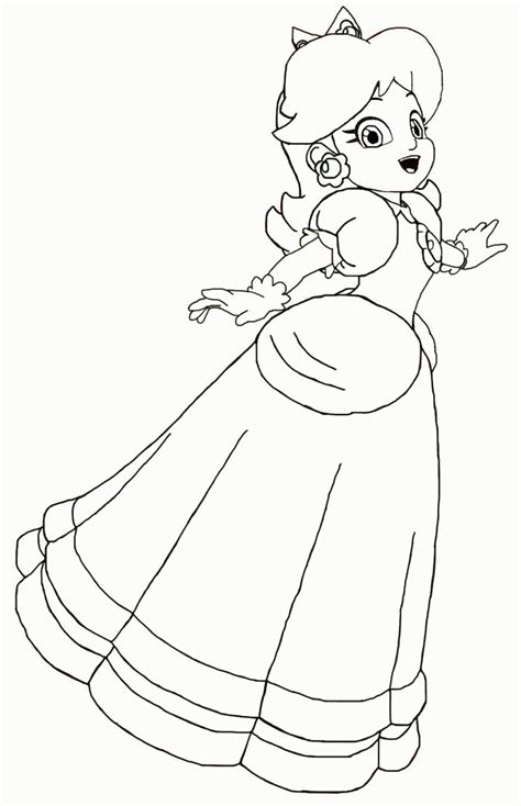 coloring pages of daisy from mario coloring pages to print of rosalina from mario coloring home